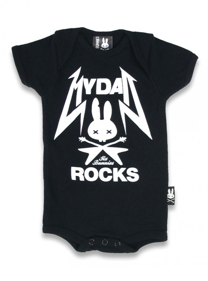 "Body Bébé Rock Six Bunnies ""My Dad Rocks"""