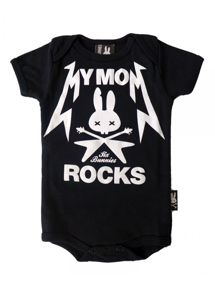 "Body Bébé Rock Six Bunnies ""My Mom Rocks"""