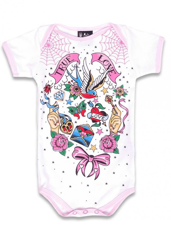 "Body Bébé Rockabilly Six Bunnies ""True Love"""