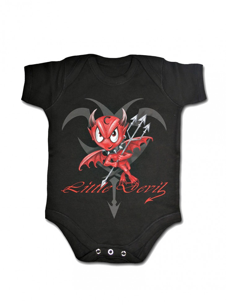 "Body Bébé Dark Wear Gothique Spiral ""Little Devil"""