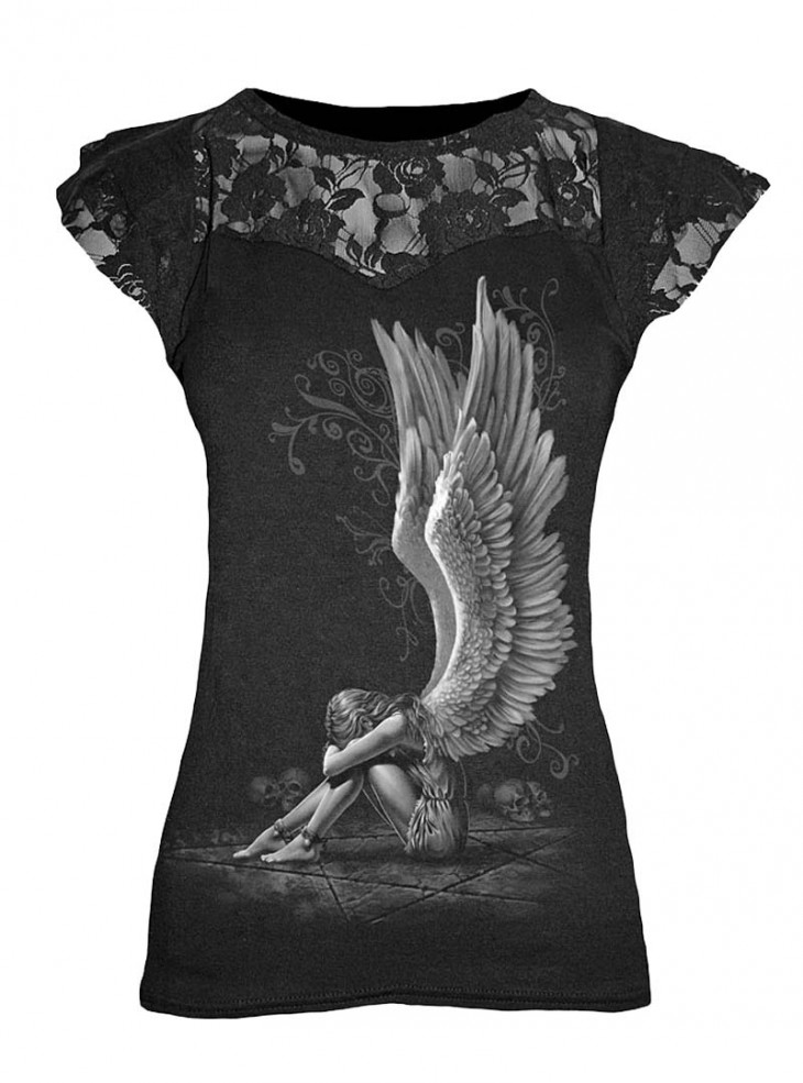 "T-shirt gothique Spiral ""Enslaved Angel"""