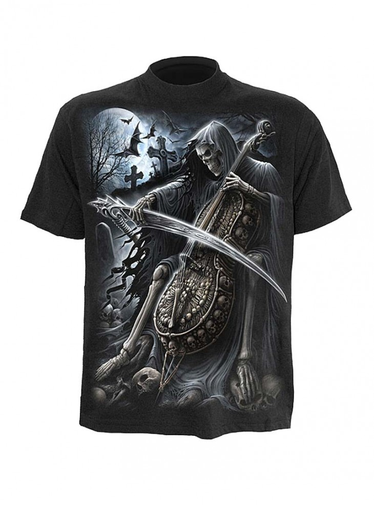 """Tee-shirt gothique homme Spiral """"Symphony of Death"""""""