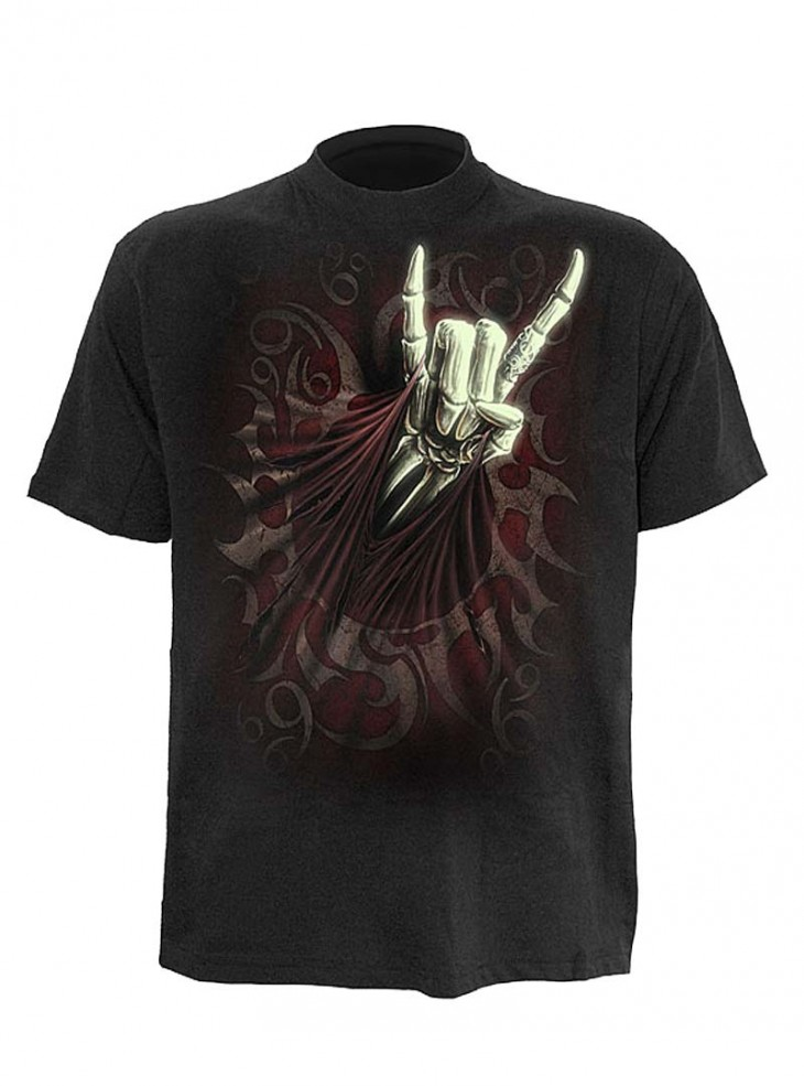 "Tee-shirt homme rock gothique Spiral ""Rock Salute"""