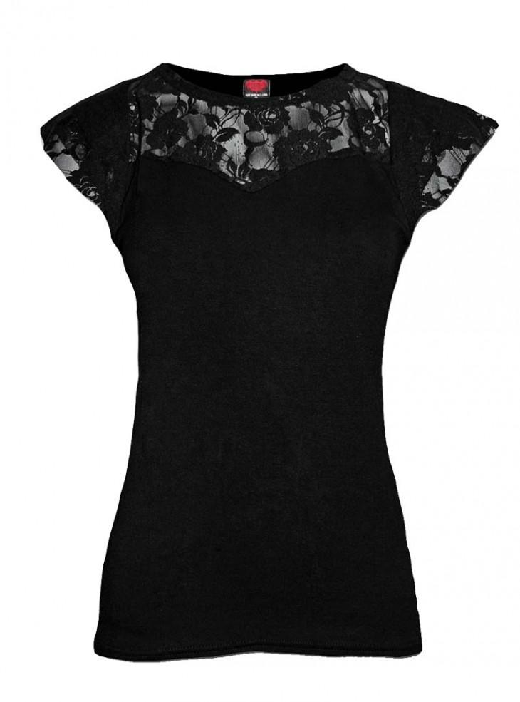 """Tee-shirt Gothique Dark Wear Spiral """"Gothic Elegance"""""""