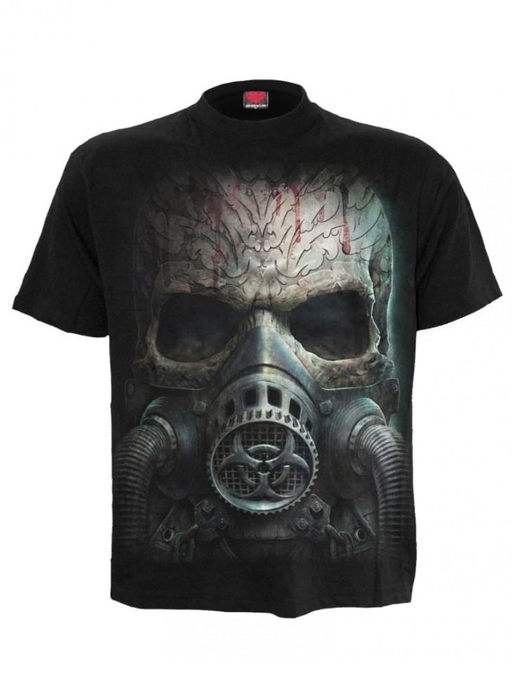 """Tee-shirt homme Rock Gothique Spiral """"Bio Skull"""""""