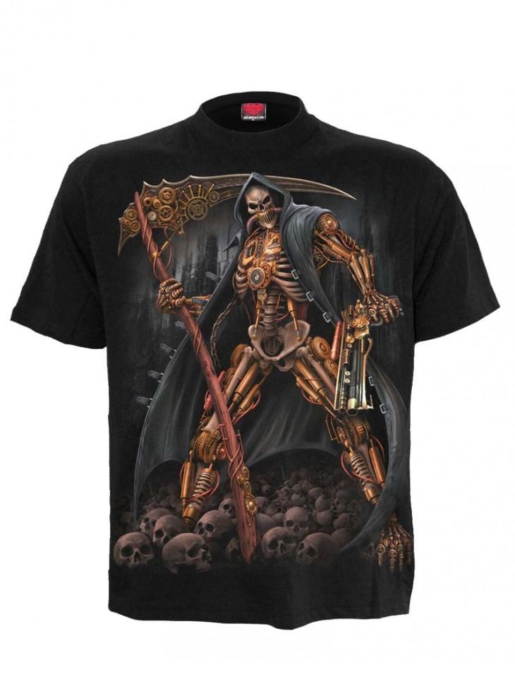 """Tee-shirt homme Rock Gothique Steampunk Spiral """"Steampunk Skeleton"""""""