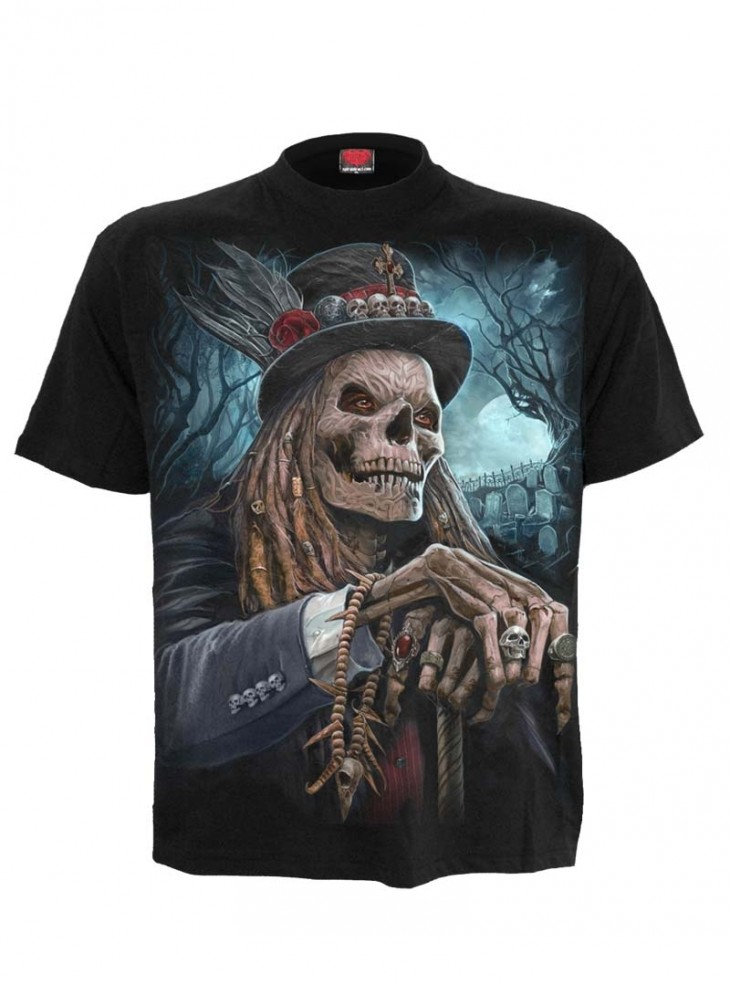 "Tee-shirt homme Rock Gothique Spiral ""Voodoo Catcher"""