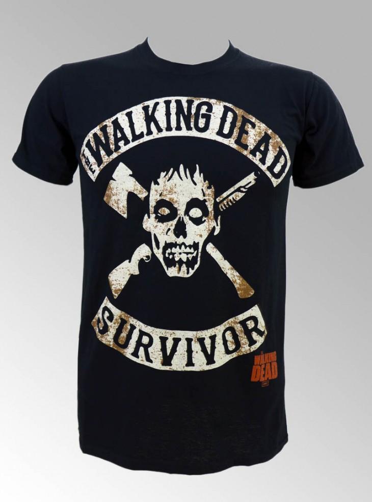 "Tee-shirt Homme Walking Dead ""The Survivor"""