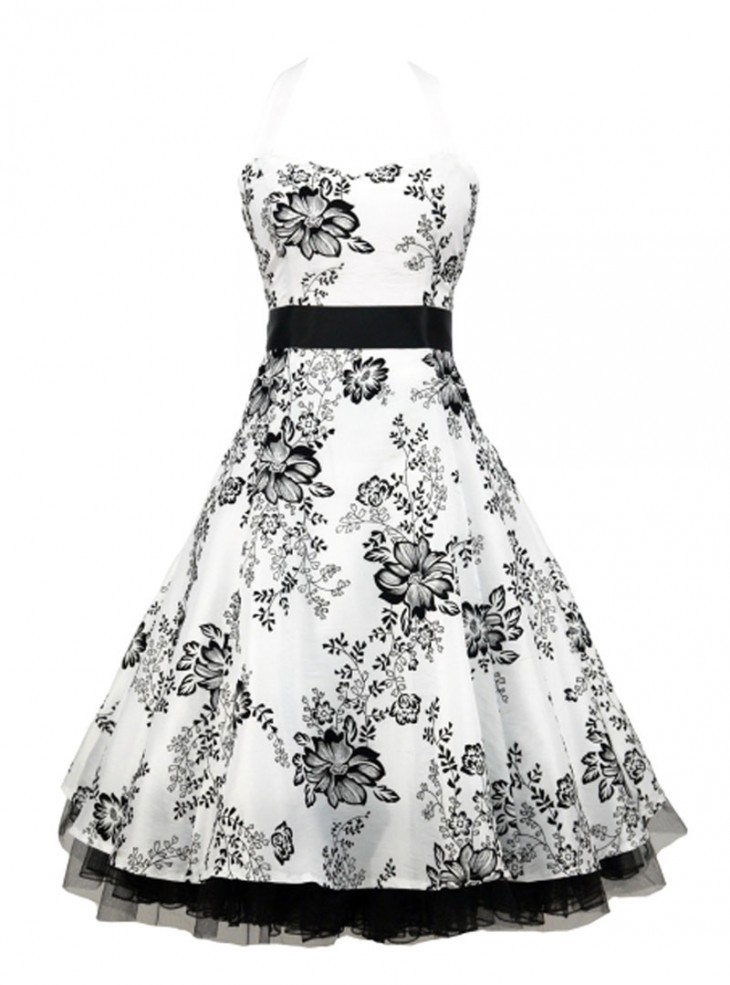 "Robe Mariage Soirée Rockabilly Pin-Up Vintage ""Izzy"""