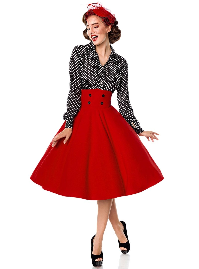 Jupe Années 50 Pin Up Rockabilly Retro Belsira