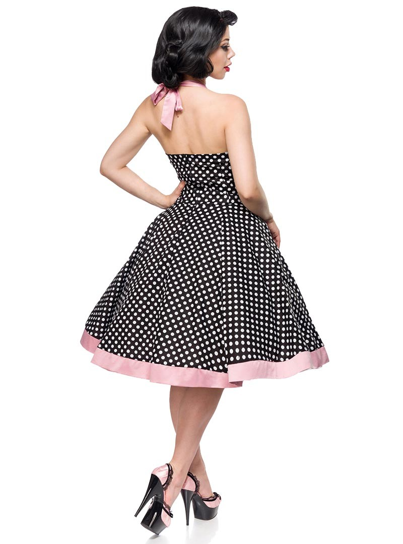 robe rockabilly pin up retro ann es 50 belsira pink white dots. Black Bedroom Furniture Sets. Home Design Ideas