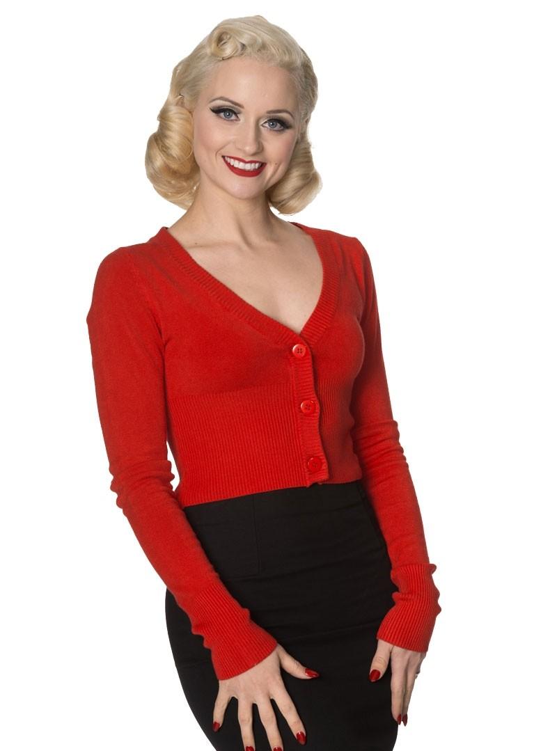 gilet bolero rouge pin up rockabilly vintage banned lets go dancing red. Black Bedroom Furniture Sets. Home Design Ideas