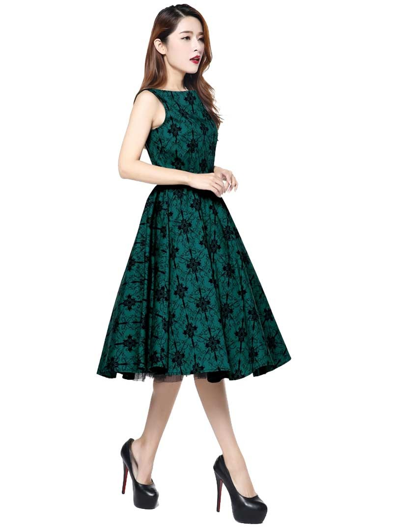 robe ann es 50 rockabilly vintage chicstar audrey green. Black Bedroom Furniture Sets. Home Design Ideas