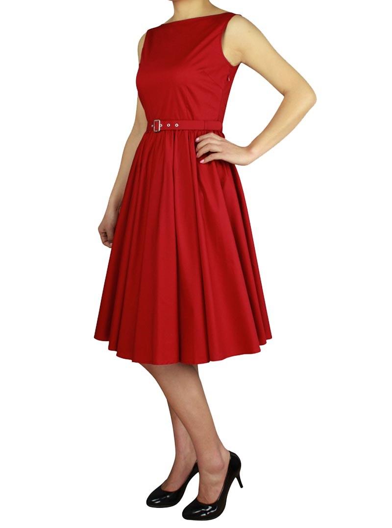 robe ann es 50 vintage rockabilly chicstar audrey red. Black Bedroom Furniture Sets. Home Design Ideas