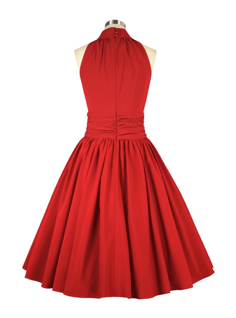 Robe soir e pin up rockabilly ann es 50 chicstar marilyn red - Robe pin up annee 50 ...