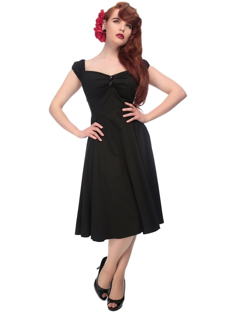 robe pin up rockabilly ann es 50 collectif dolores doll black. Black Bedroom Furniture Sets. Home Design Ideas
