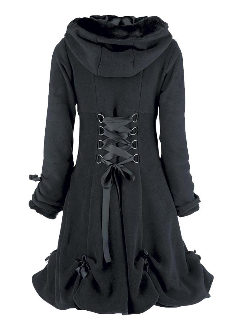 Manteau gothique lolita poizen industries evil clothing alice black q - Achat de manteau en ligne ...
