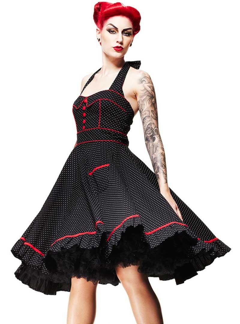 "Vintage Année 50 à robe rockabilly vintage années 50' hell bunny ""vanity"