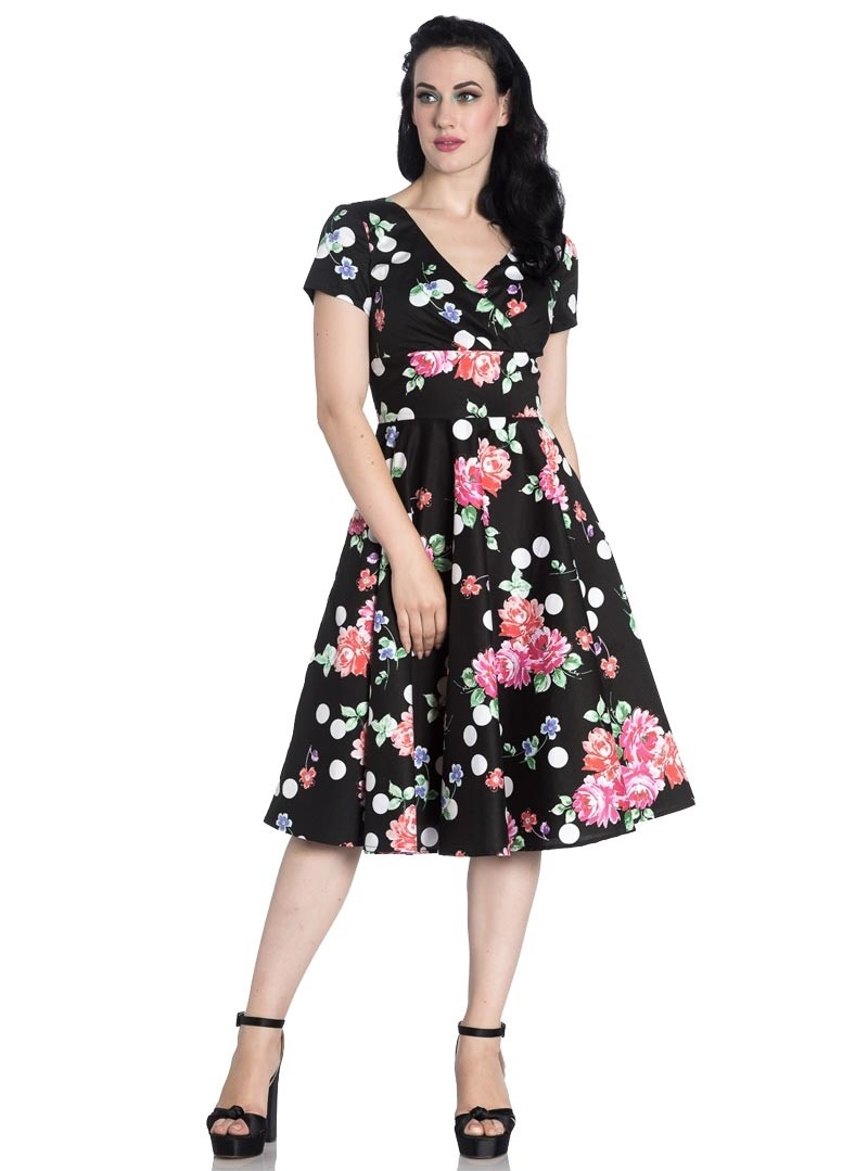 Robe rockabilly pin up ann es 50 hell bunny collarette - Robe pin up annee 50 ...
