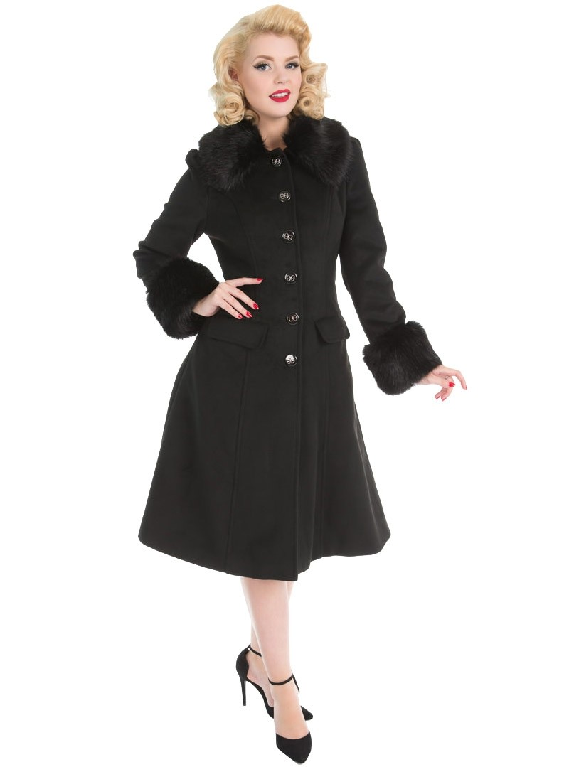 manteau rockabilly pin up ann es 50 hr london marylin. Black Bedroom Furniture Sets. Home Design Ideas