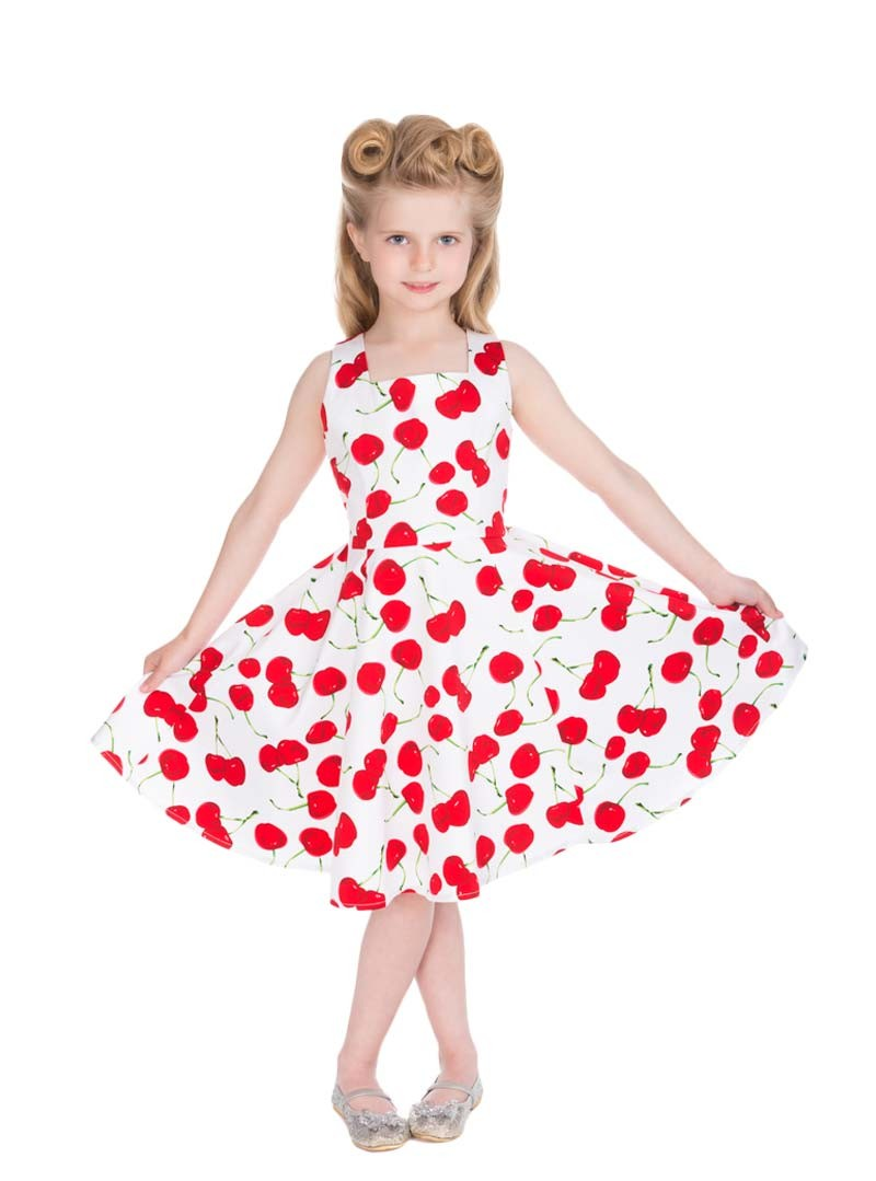 Fille Robe Hr Up Pin London Retro Enfant Rockabilly JlK13uF5Tc