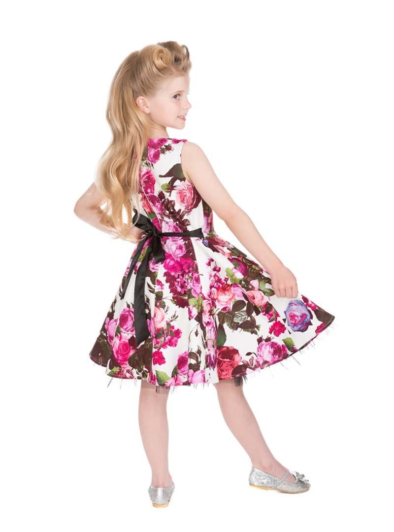 robe enfant fille rockabilly pin up vintage hr london audrey floral. Black Bedroom Furniture Sets. Home Design Ideas