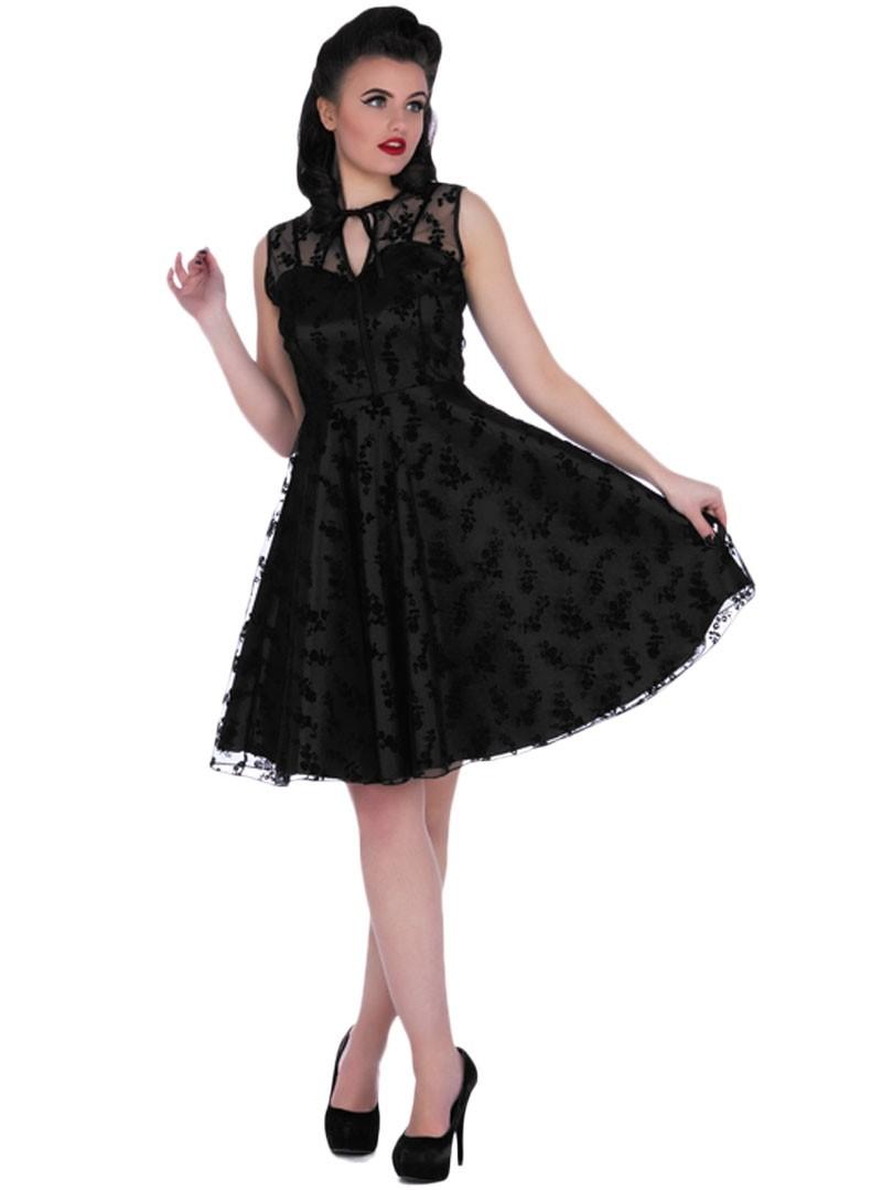 robe soir e rockabilly pin up vintage voodoo vixen penny black. Black Bedroom Furniture Sets. Home Design Ideas
