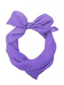 "Foulard Etole Pin-Up Rockabilly Années 50 Banned ""Just Purple"" - rockangehell.com"