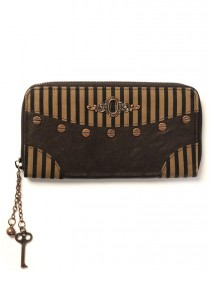 "Portefeuille Steampunk Banned ""Striped"""