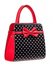 """Sac Rockabilly Pin-Up Vintage Banned """"Carla Black Red"""""""