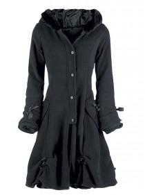 """Manteau Gothique Lolita Poizen Industries (Evil Clothing) """"Alice Black"""""""