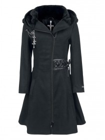 "Manteau Rock Gothique Alchemy Black (Evil Clothing) ""Tears"" - rockangehell.com"