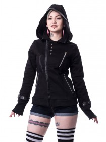 "Veste Gothique Rock Poizen Industries (Evil Clothing) ""Z Black"" - rockangehell.com"