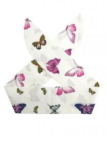 "Foulard Cheveux Pin-Up Rockabilly Swing Papillon Rock Ange'Hell ""Butterfly"" - rockangehell.com"