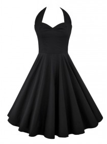 "Robe Rockabilly Gothique Rock Ange'Hell ""Vivien Black"" - rockangehell.com"