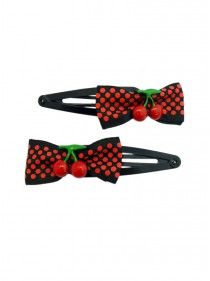 "Barrettes Cheveux Rockabilly Vintage Retro Rock Daddy ""Cherry"""
