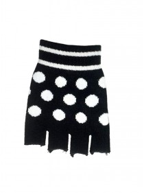 "Mitaines courtes Rockabilly ""White Dots"" - rockangehell.com"