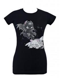 Tee-shirt Gothique Kawaii Angel Evil Cats - rockangehell.com