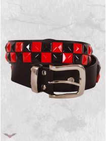 "Ceinture punk rock Queen of Darkness ""Blk&Red Pyramids"""