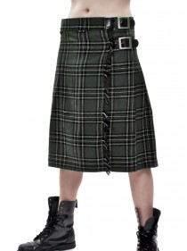 "Kilt Ecossais Homme Queen of Darkness ""Green Tartan"""