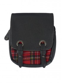"Sacoche pour Kilt punk gothique Queen of Darkness ""Red Tartan"""