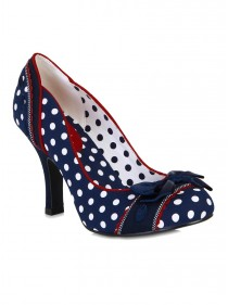 "Chaussures Escarpins Années 50 Pin-Up Rockabilly Ruby Shoo ""Amy Blue"" - rockangehell.com"