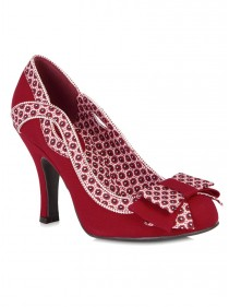 "Chaussures Escarpins Années 50 Vintage Rockabilly Ruby Shoo ""Ivy Red"" - rockangehell.com"
