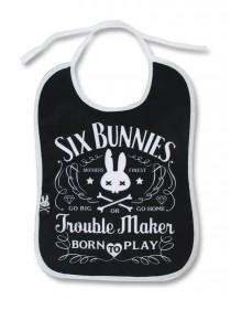 """Bavoir Rock Métal Six Bunnies """"Troublemaker"""""""