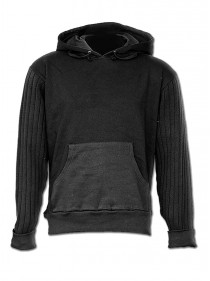 "Sweat Homme Rock Gothique Spiral ""Metal Black"""