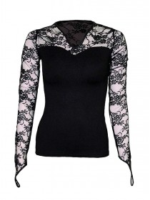 "Tee-shirt gothique manches longues Spiral ""Lace Glove"""