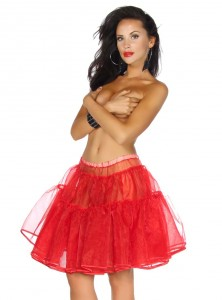 "Jupon 48 cm Rockabilly Pin-Up Retro Belsira ""Just Red"" - rockangehell.com"