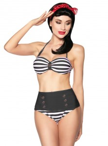 "Maillot de bain 2 pièces Bikini Marin Vintage Retro Rockabilly Pin-Up ""Sailor"" - rockangehell.com"