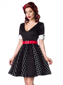 "Robe Retro Vintage Pin-Up Belsira ""Black White Dots"""