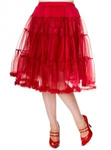 "Jupon rockabilly années 50 Banned 60 cm ""Petticoat Red"""